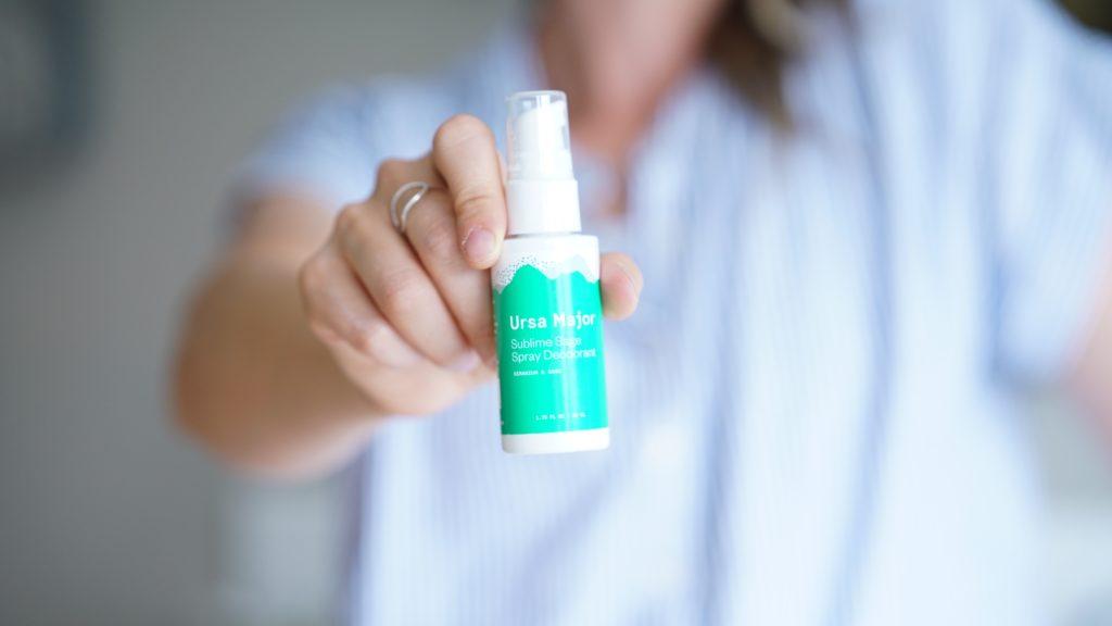 holding up deodorant