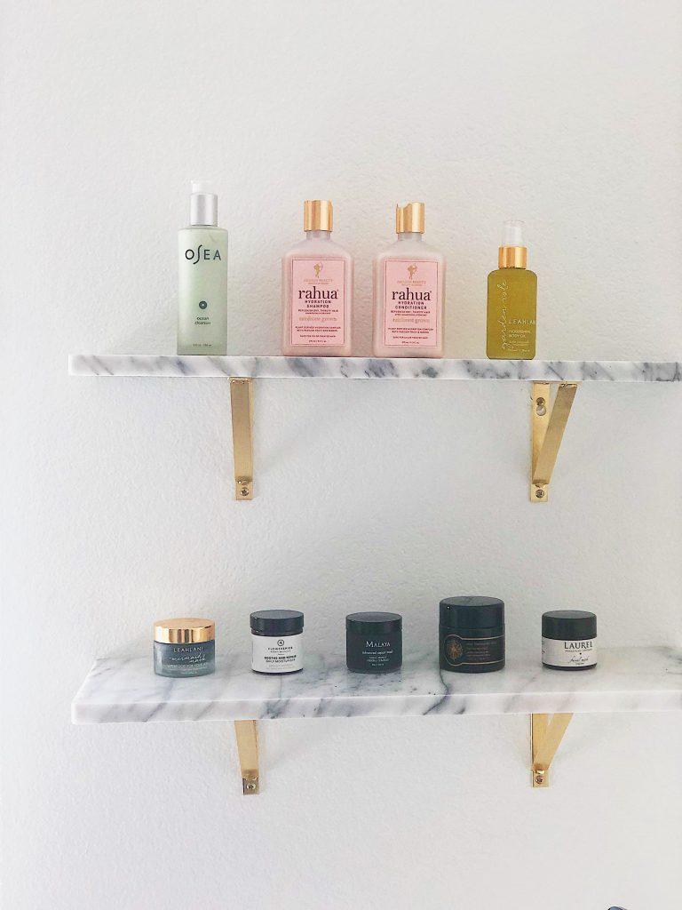 modern marble shelves