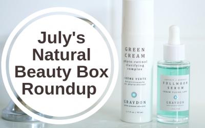 July's Natural Beauty Box Roundup