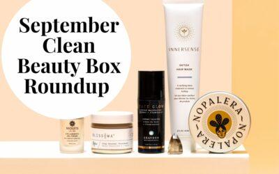 Clean Beauty Box Roundup Septemeber